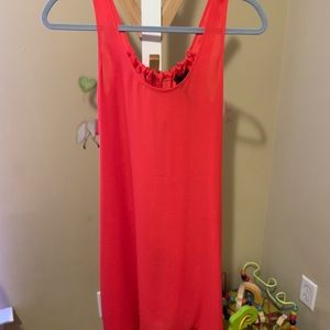 BCBG red silk dress